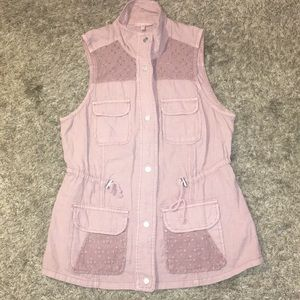 Sleeveless Button up vest top from Maurice's